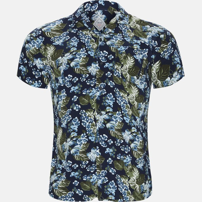 Kortærmede skjorter - Regular fit - Blå