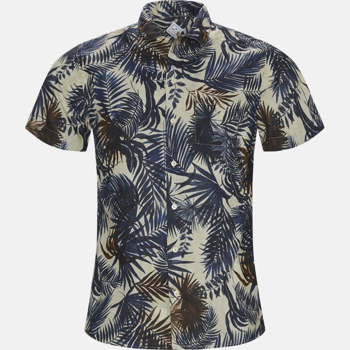 Skjorte  - Kortærmede skjorter - Regular fit - Blå