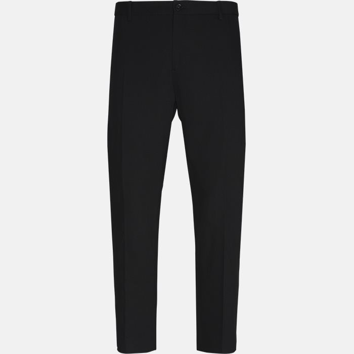 Trousers - Fitted body - Black