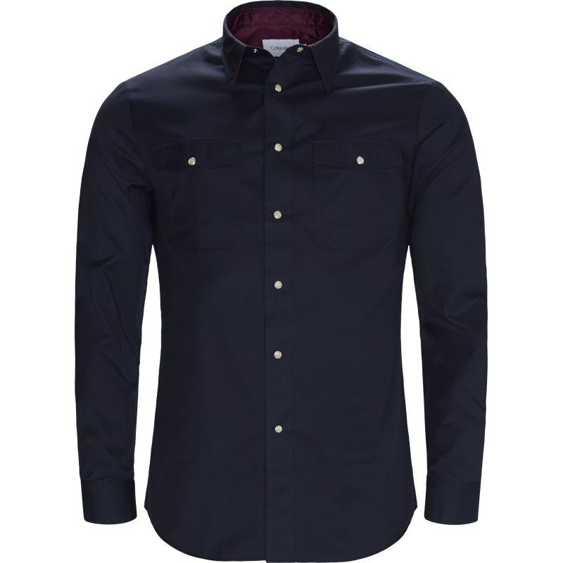 Billede af Calvin Klein Fitted body K10K103047 Skjorter Navy