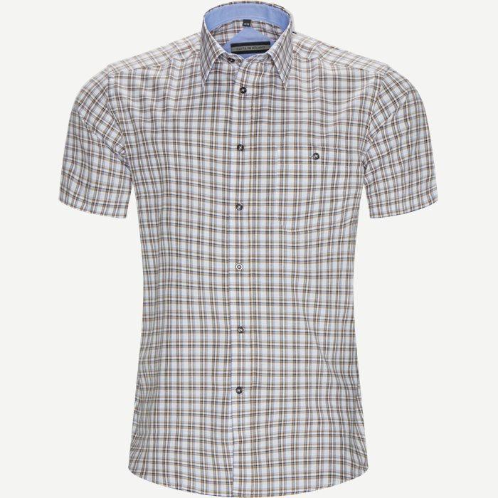 Marta Kortærmet Skjorte - Kortærmede skjorter - Regular - Brun