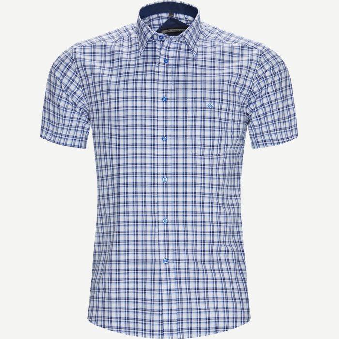 Marta Kortærmet Skjorte - Kortærmede skjorter - Regular - Blå