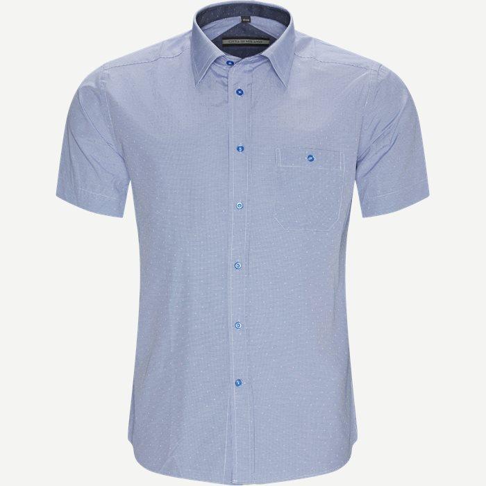 Nerea Kortærmet Skjorte - Kortærmede skjorter - Regular - Blå