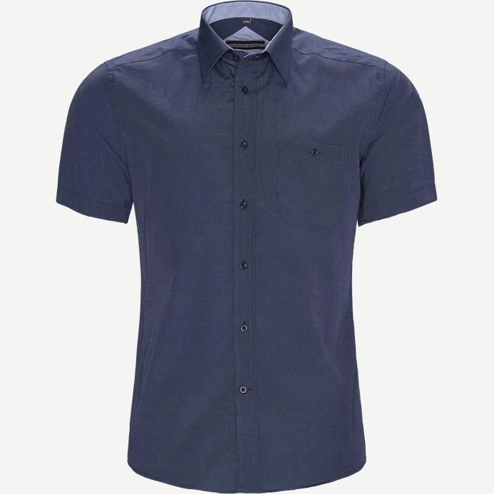 Javier Kortærmet Skjorte - Kortærmede skjorter - Regular - Blå