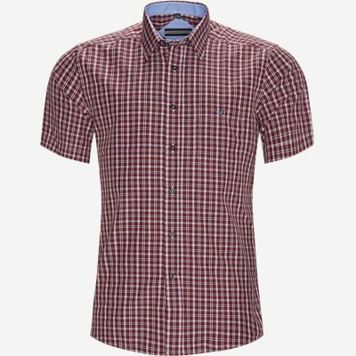 Alejandro Kortærmet Skjorte Regular | Alejandro Kortærmet Skjorte | Bordeaux