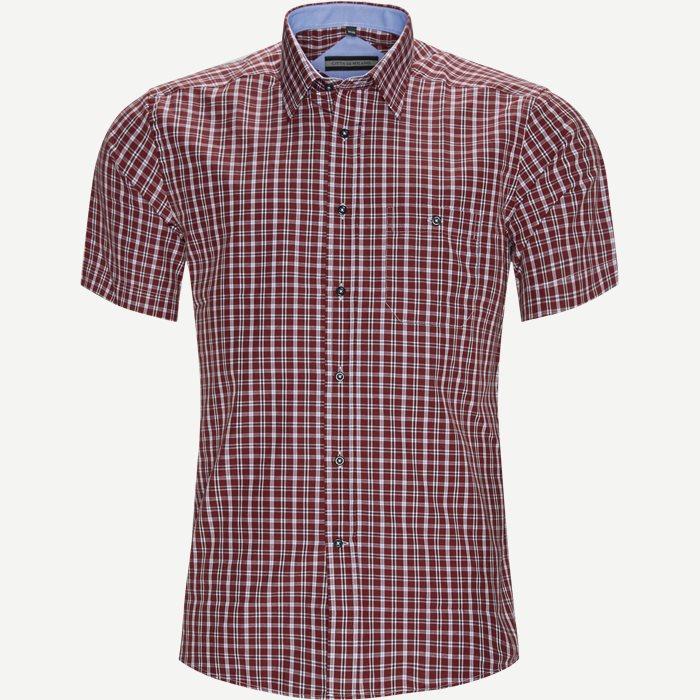 Rutiga skjortor - Regular - Bordeaux