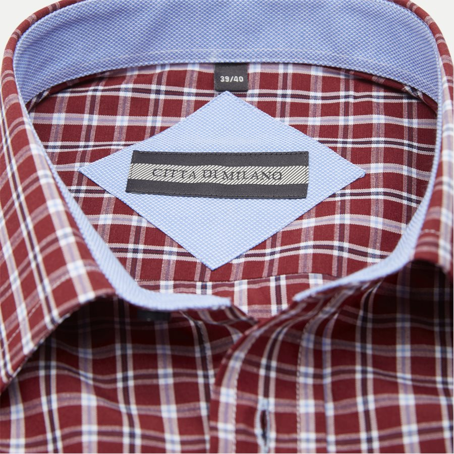 ALEJANDRO - Alejandro Kortærmet Skjorte - Skjorter - Regular - BORDEAUX - 5