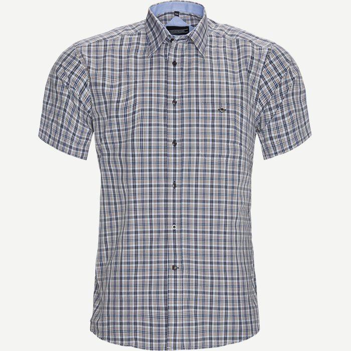 Kortärmade skjortor - Regular - Brun