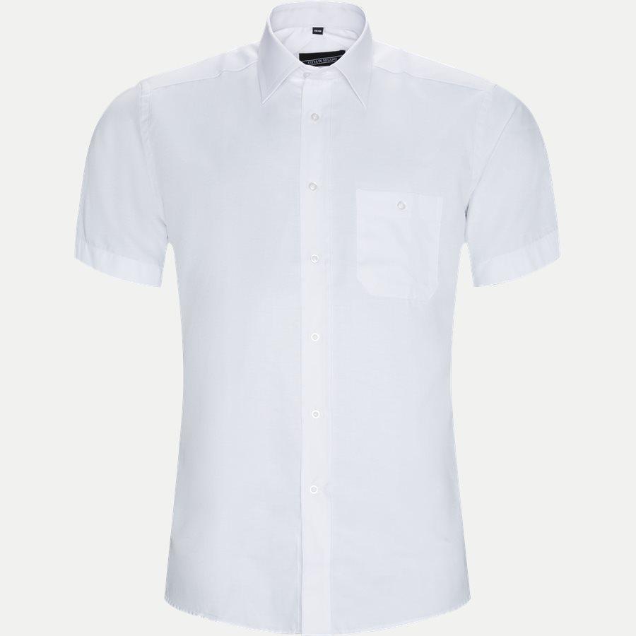 MANUEL - Manuel Kortærmet Skjorte - Skjorter - Regular - WHITE - 1