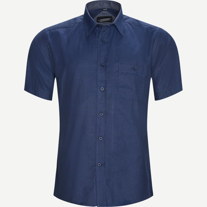 Fernando Kortærmet Skjorte  - Kortærmede skjorter - Regular - Denim