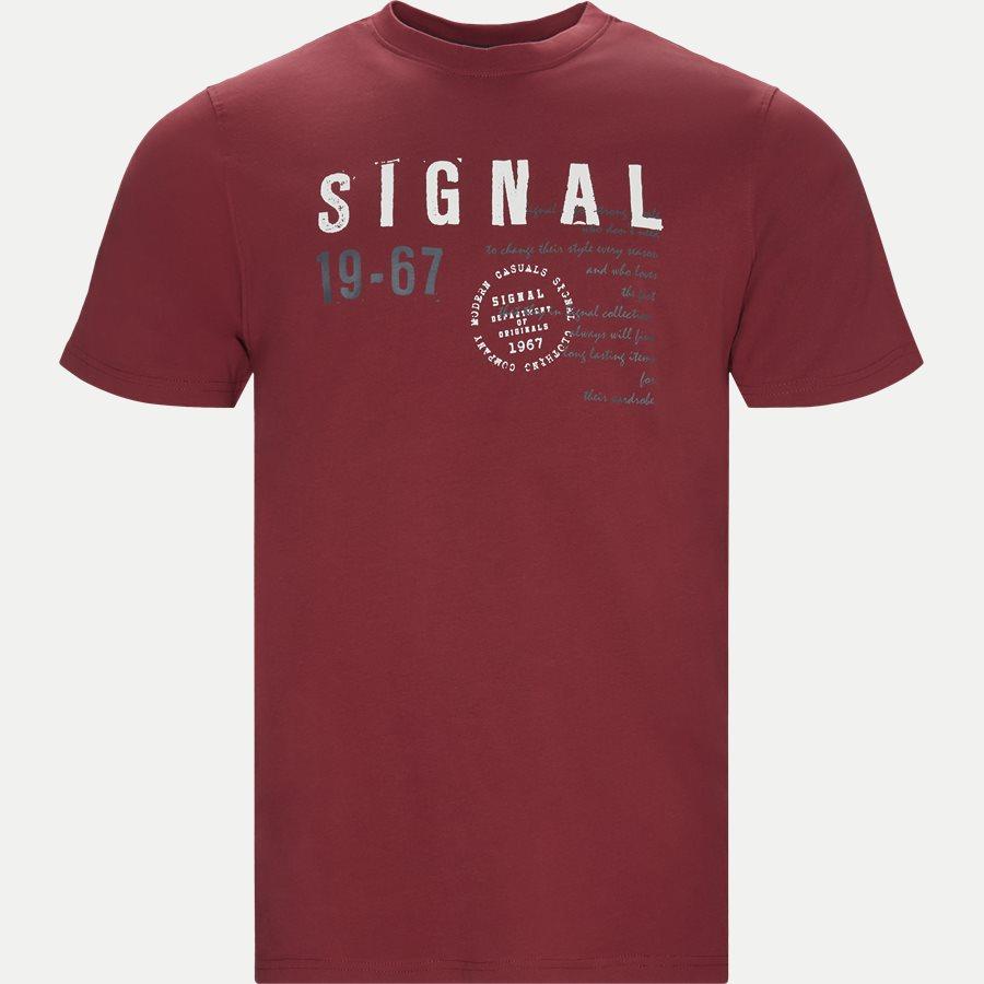 WAINE LOGO - T-shirts - Regular - BORDEAUX - 1