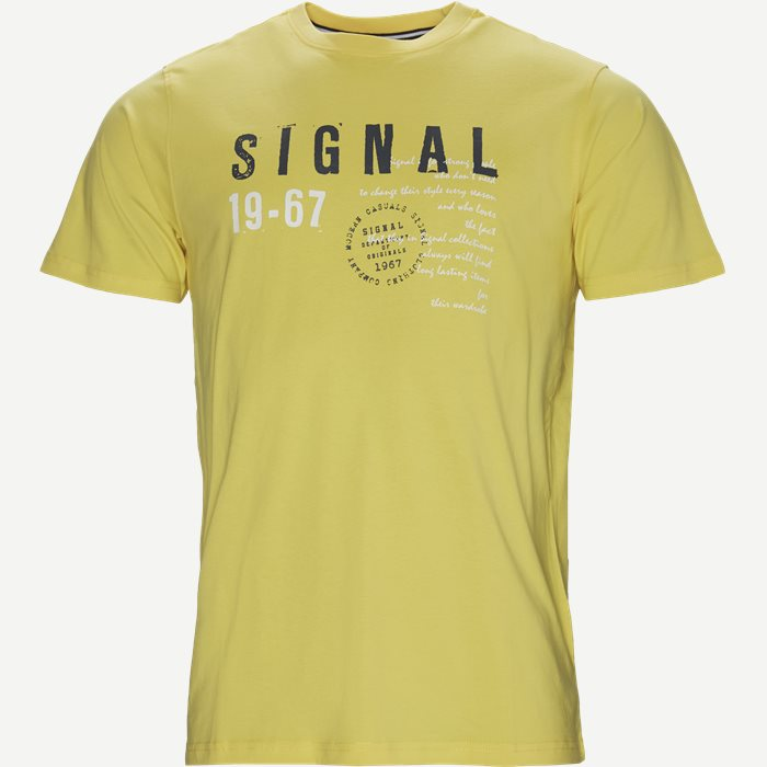 Wayne Tee KM  - T-shirts - Regular - Gul