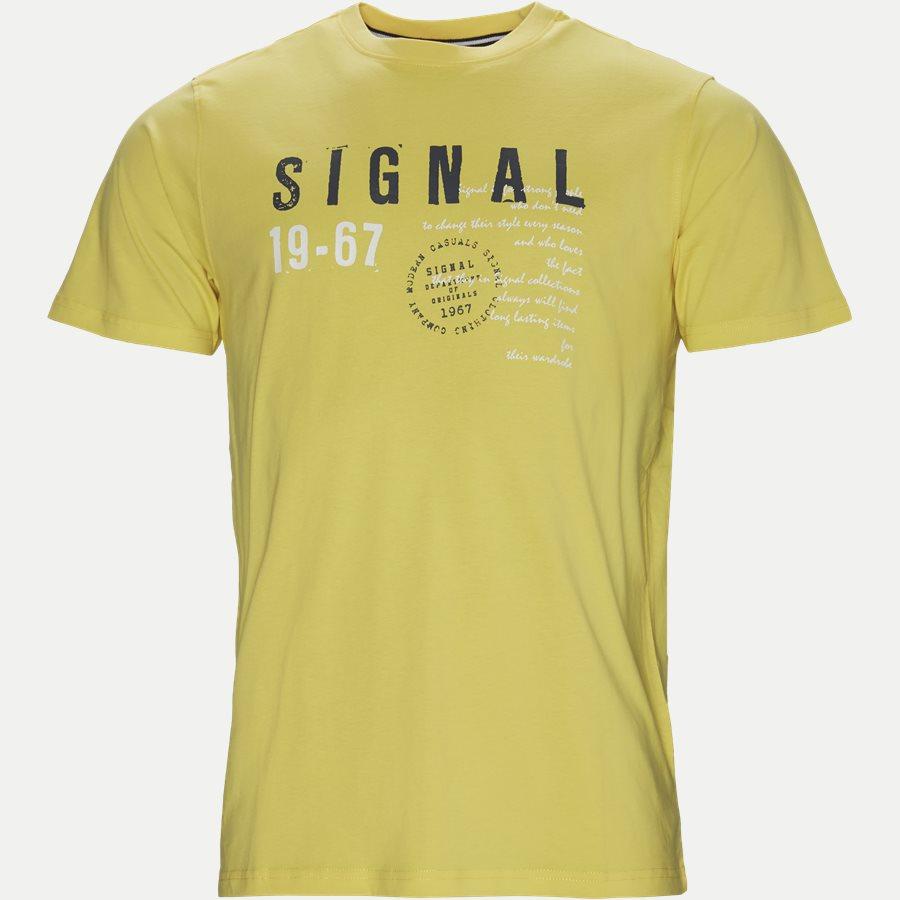 WAINE LOGO - Wayne Tee KM  - T-shirts - Regular - GUL - 1