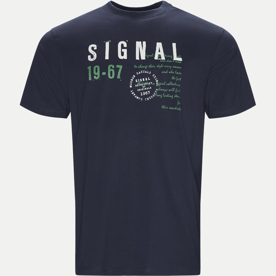 WAINE LOGO - Wayne Tee KM  - T-shirts - Regular - NAVY - 1