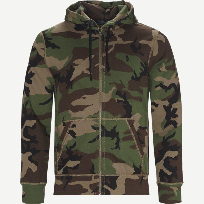 Camo Hoodie Sweatshirt - Sweatshirts - Regular - Army