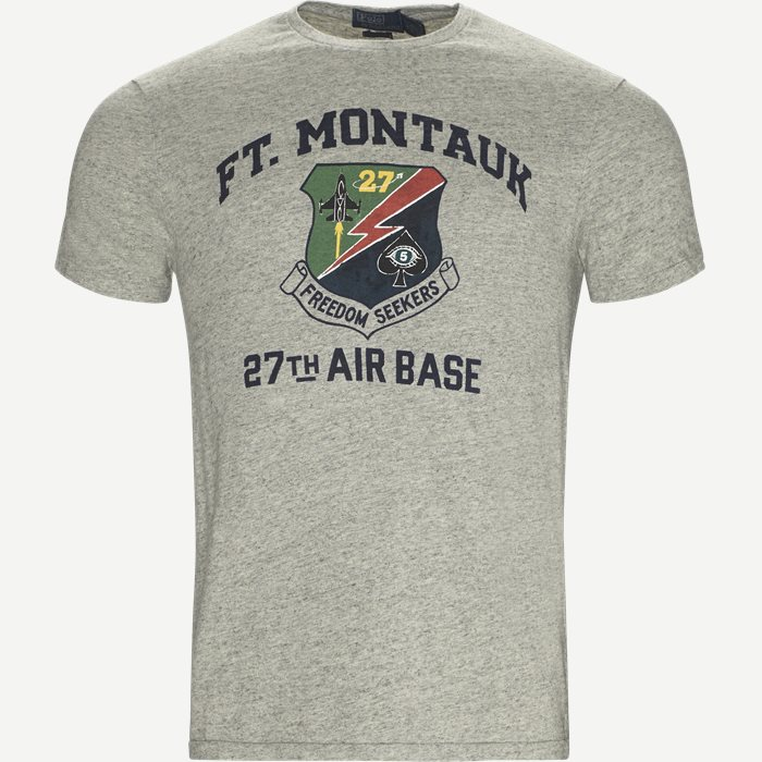 Montauk Crew Neck Tee - T-shirts - Regular slim fit - Grå