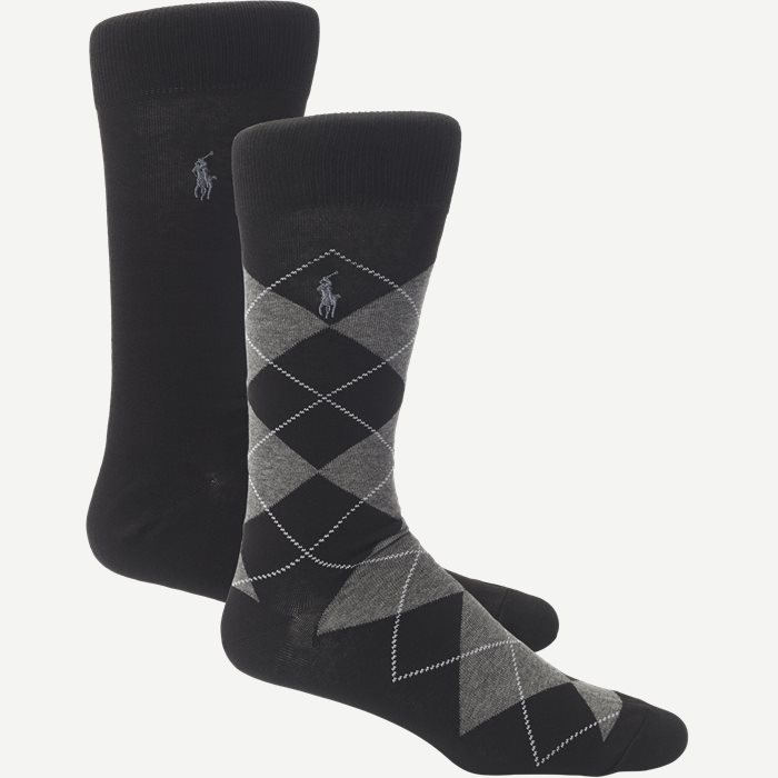 2 Pack Socks - Strømper - Sort