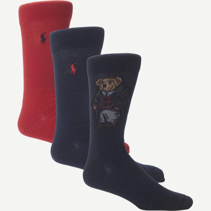 3-pack Socks - Strømper - Blå