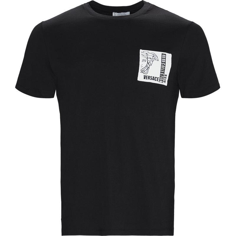 Billede af VERSACE Regular fit V800683R5 VJ100180 T-shirts Sort