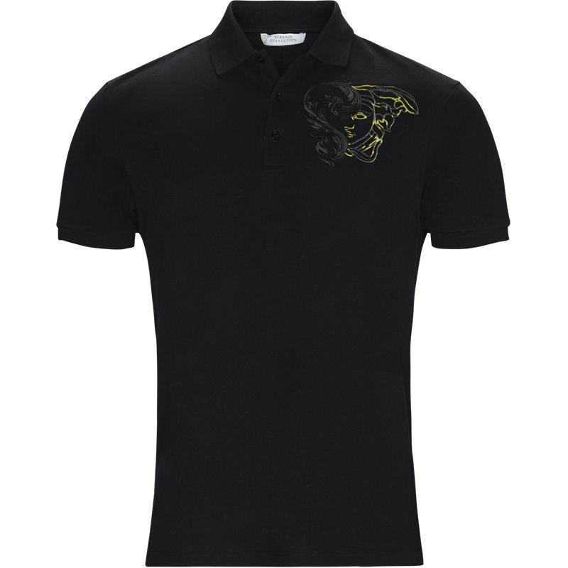 Billede af VERSACE Regular fit V800543P VJ00068 T-shirts Sort