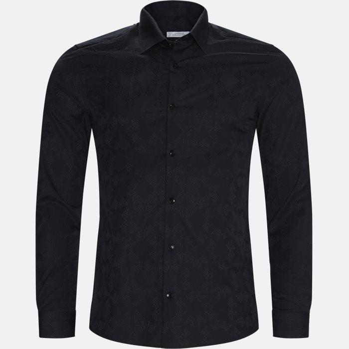 skjorte - Skjorter - Regular slim fit - Sort