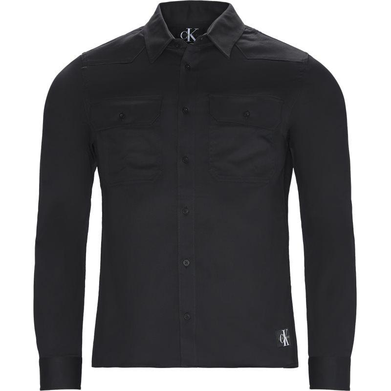 calvin klein jeans Calvin klein jeans slim j30j310496 skjorter black på axel.dk
