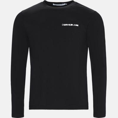 Regular fit   Langærmede T-shirts   Sort