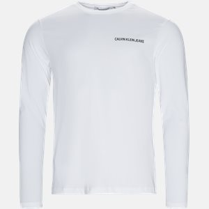 Regular fit | Langærmede T-shirts | Hvid