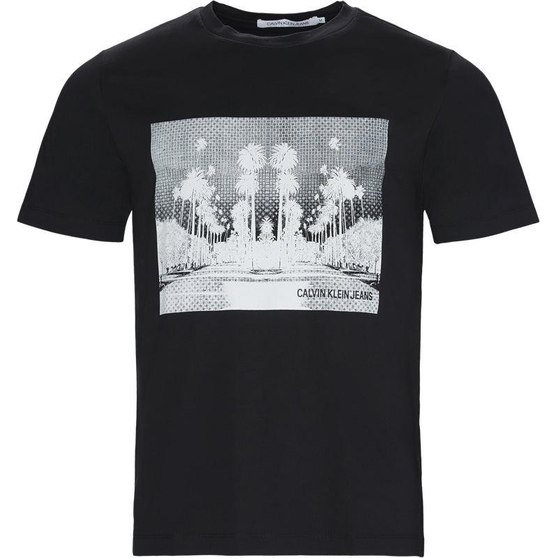 Billede af CALVIN KLEIN JEANS Regular fit J30J310408 CALI LANDSCAPE T-shirts Blk/whi