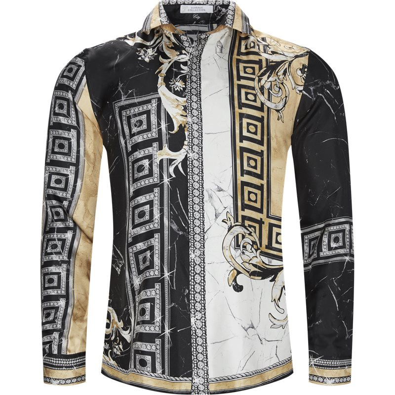 Versace regular fit v300292a vt2163 n skjorter sort fra versace på axel.dk