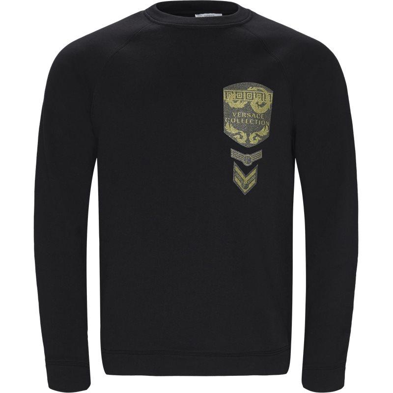 versace – Versace regular fit v800687n vj00358 sweatshirts sort/guld på axel.dk