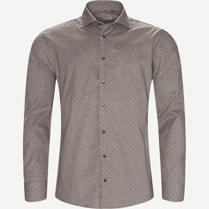 New Biz Skjorte - Skjorter - Slim - Brun