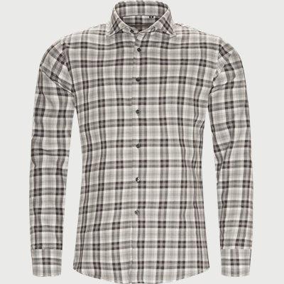 New Biz Skjorte Slim | New Biz Skjorte | Grå