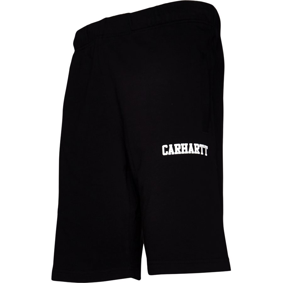 COLLEGE SWEAT SHORT. I024673 - College Sweat Shorts - Shorts - Regular - BLK/WHI - 4