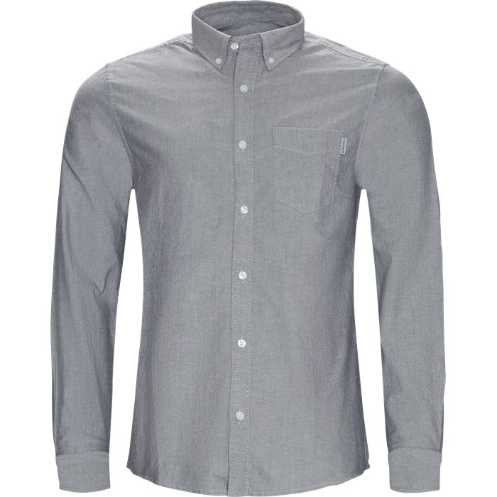 L/S Pocket Shirt - Skjorter - Regular - Sort