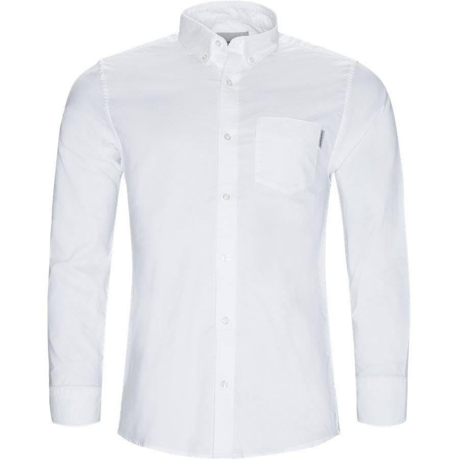 L/S POCKET SHIRT I022069 - L/S Pocket Shirt - Skjorter - Regular - WHITE - 1