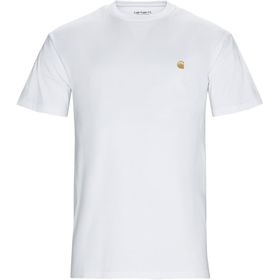 S/S CHASE. I026391 - S/S Chase T-Shirt - T-shirts - Regular - WHITE/GOLD - 1