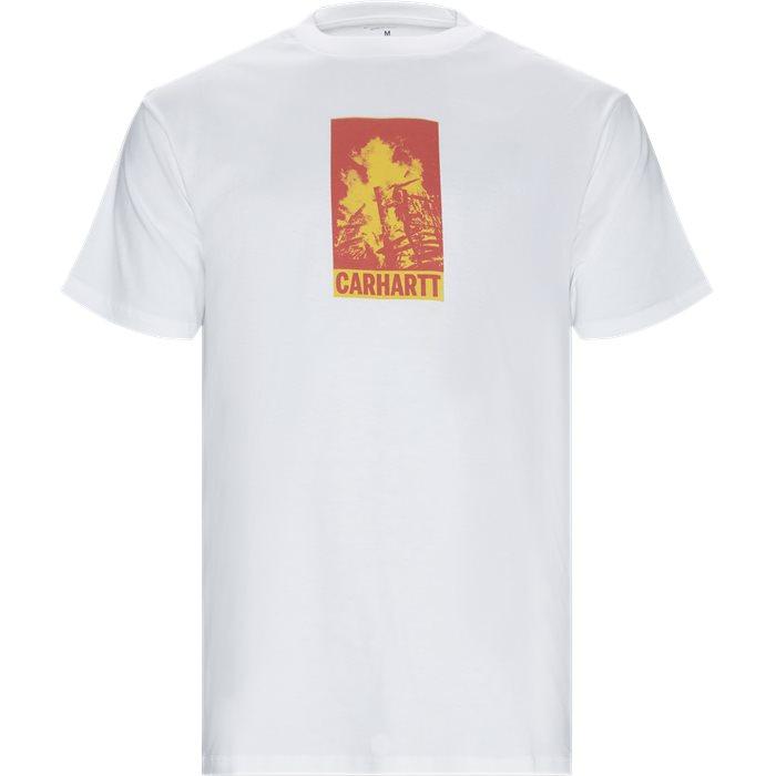 S/S Campfire - T-shirts - Regular - Hvid