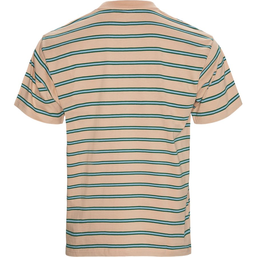 S/S HOUSTON POCKET I026370 - Houston Pocket Tee - T-shirts - Regular - STRIPE/PEACH - 2