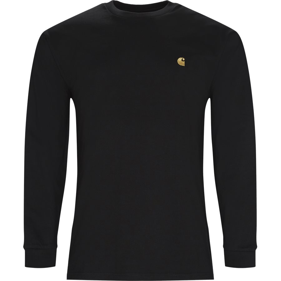 L/S CHASE. I026392 - L/S Chase Tee - T-shirts - Regular - BLACK/GOLD - 1