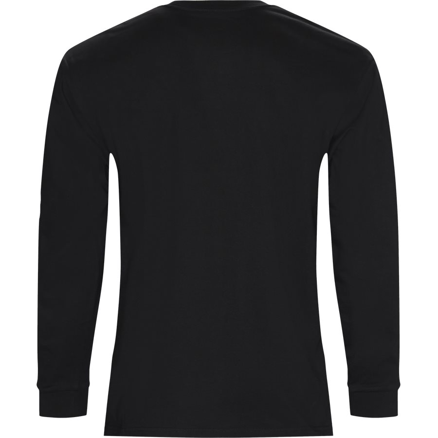 L/S CHASE. I026392 - L/S Chase Tee - T-shirts - Regular - BLACK/GOLD - 2