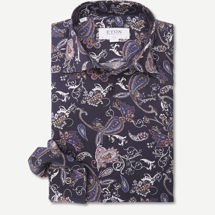 3036 Signature Twill Skjorte - Skjorter - Blå