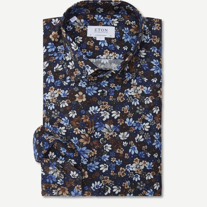 3059 Signature Twill Skjorte - Skjorter - Blå