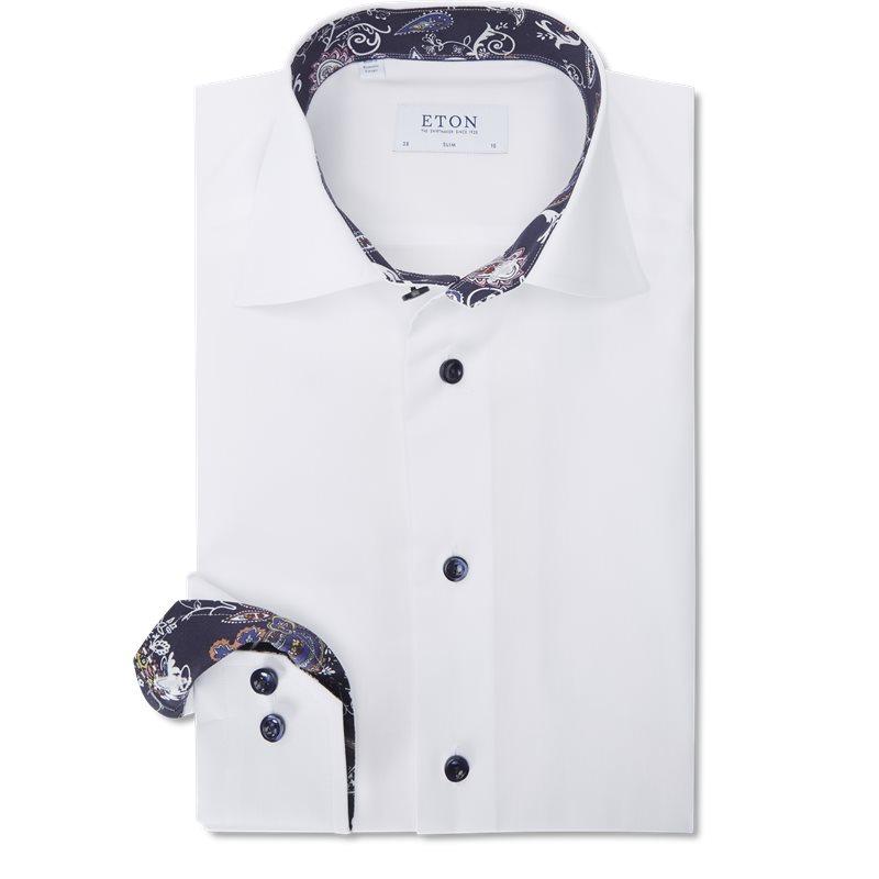 Eton - signature twill skjorte fra eton på kaufmann.dk