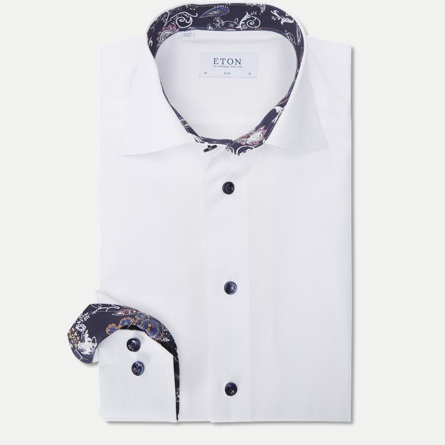 3000 00625/00323 - 3000 Signature Twill Skjorte - Skjorter - HVID - 1