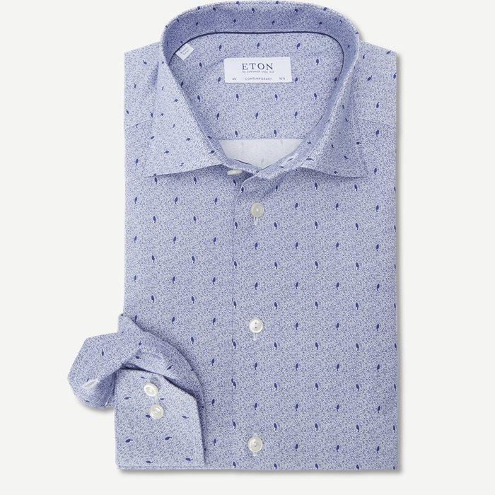 2014 Poplin Skjorte - Skjorter - Blå