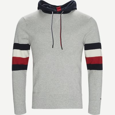 Stripe Detail Hoody Relaxed fit | Stripe Detail Hoody | Grå