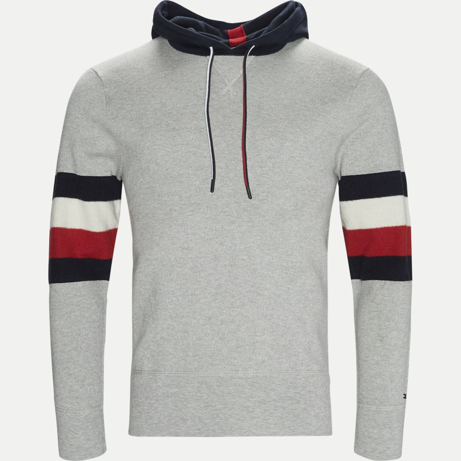 STRIPE DETAIL HOODY - Stripe Detail Hoody - Sweatshirts - Relaxed fit - GRÅ - 1