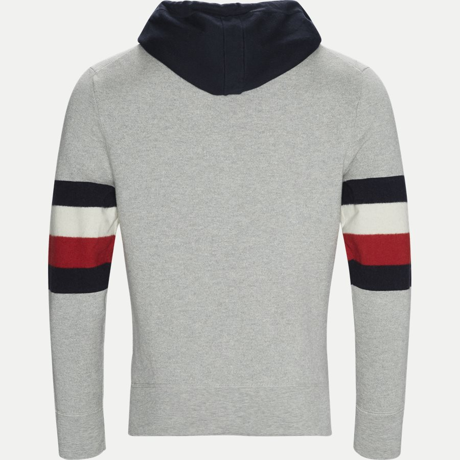 STRIPE DETAIL HOODY - Stripe Detail Hoody - Sweatshirts - Relaxed fit - GRÅ - 2