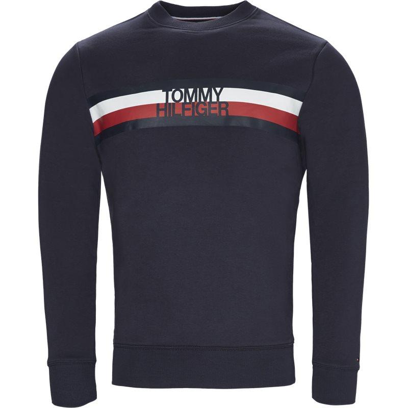 Tommy hilfiger - logo sweatshirt fra tommy hilfiger på kaufmann.dk